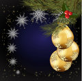Christmas balls decorated blown glass and gold Royalty Free Stock Photo