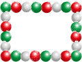 Christmas Balls Frame Horizontal Royalty Free Stock Photo