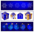 Christmas balls and gift boxes Stock Photography