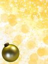 Christmas balls gold tree ornament with stars snowflakes and copy space Stock Photography