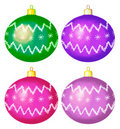 Christmas balls, isolated, set Stock Images