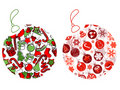 Christmas balls made of Christmas symbols Royalty Free Stock Photo