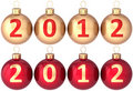 Christmas balls New 2012 Year baubles set Royalty Free Stock Photo