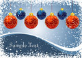 Christmas balls with ornament and snowflake frame Royalty Free Stock Images