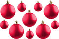 Christmas balls over white. Royalty Free Stock Photography
