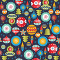 Christmas balls pattern. Royalty Free Stock Photo