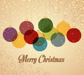 Christmas balls retro background with Royalty Free Stock Photography