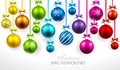 Christmas balls with ribbon and bows Royalty Free Stock Photo