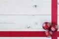 Christmas Balls and a Ribbon Royalty Free Stock Photo