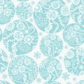 Christmas balls seamless pattern in blue decor Stock Image