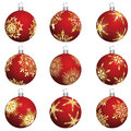 Christmas balls set Stock Photo