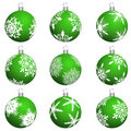 Christmas balls set Royalty Free Stock Photo