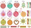 Christmas balls set Royalty Free Stock Images