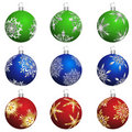 Christmas balls set Stock Photos