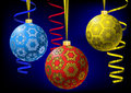 Christmas-balls with snowflakes texture Royalty Free Stock Photography