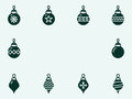 Christmas balls. Vector icons