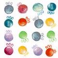 Christmas balls watercolor