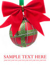 Christmas balls on white background Royalty Free Stock Photos