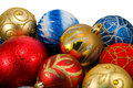 Christmas balls on white background Royalty Free Stock Images