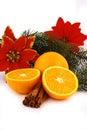Christmas ballsand orange Stock Photo