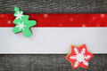 Christmas banner with cookies Royalty Free Stock Photo