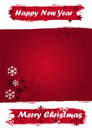 Christmas Banner in red grunge colors Stock Photos