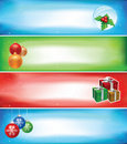 Christmas banner set Royalty Free Stock Photos