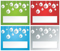 Christmas banner set balls and with colorful backgrounds Royalty Free Stock Photo