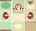 Christmas banner set three different banners backgrounds everything is grouped logically Royalty Free Stock Images