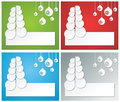 Christmas banner set tree from paper and paper balls on the background Royalty Free Stock Image
