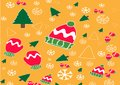 Christmas banner vector background template colorful elements like gifts and decorations