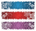 Christmas banners. Royalty Free Stock Photos