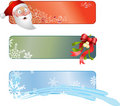 Christmas banners Royalty Free Stock Images