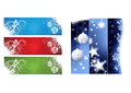 Christmas banners for cards for all use Royalty Free Stock Images