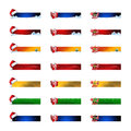 Christmas banners with colored icons elements Royalty Free Stock Photography