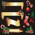 Christmas banners and design elements. Stock Images