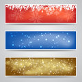 Christmas Banners Set Stock Image