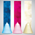 Christmas banners set of vertical vector Royalty Free Stock Images