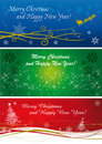 Christmas banners in three colours and style Royalty Free Stock Photo