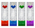 Christmas banners in various colors Stock Photos