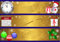 Christmas banners. vector 10eps. Royalty Free Stock Images