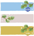 Christmas banners vector Stock Photography