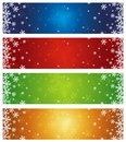 Christmas banners, vector Royalty Free Stock Photos