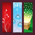 Christmas banners vertical background set of for web or print use Stock Image