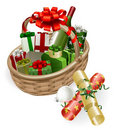 Christmas basket illustration Royalty Free Stock Image