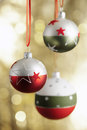 Christmas baubels and copyspace selective focus Royalty Free Stock Images