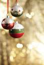 Christmas baubels and copyspace selective focus Stock Image