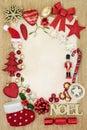 Christmas Bauble Background Border Royalty Free Stock Photo