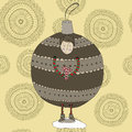 Christmas bauble boy hand drawn in a costume Stock Photography