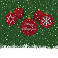Christmas bauble decoration red and green with space for text eps format with transparencies Stock Images